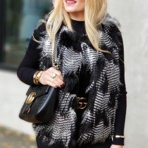 Soft Faux Fur Vest - Black
